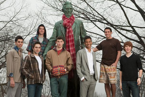 Pendleton-inspired fashions designed by Cornell University students.
