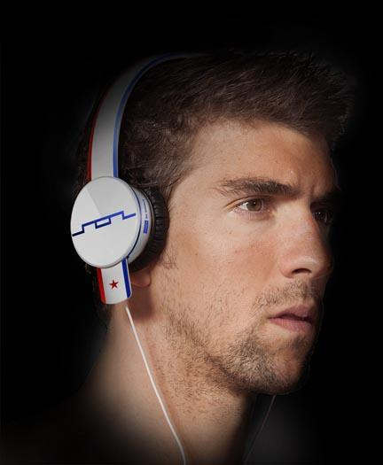 """Sol Republic on Tuesday began auctioning 21 pairs of its headphones worn by swimmer Michael Phelps during the Olympics. The brand, with a base of operation in Wilsonville, also launched a Phelps-inspired pair of headphones, dubbed """"Anthem,"""" that the swimmer models in this picture."""