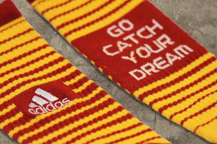 Adidas debuted special NFL Draft socks for quarterback Robert Griffin III. The socks are in the colors of the Washington Redskins, which announced earlier this week their intention of drafting the Heisman Trophy winner with the No. 2 pick in the draft.