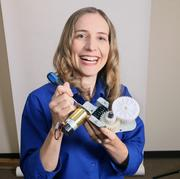 Dorota Shortell, president, Simplexity Product Development Inc. Shortell designed this gear train, which represents her love of all things mechanical, a few years ago.