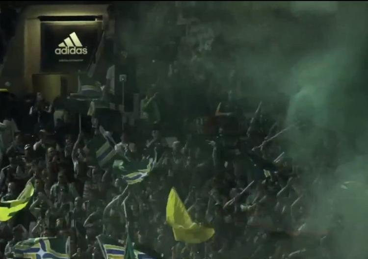 The Timbers Army, as filmed at the Timbers' April 21st game at Jeld-Wen Field against Sporting Kansas City, are showcased in a new 30-second spot from Adidas to air this weekend.
