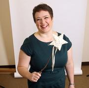 """Laila Umpleby, CEO, Make-A-Wish Oregon.Umpleby's magic wand sits prominently on her desk. """"I like to say it works to actually grant wishes,"""" she said."""