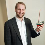 Evan Wilson, principal and senior research analyst for Pacific Crest Securities.Wilson's father, who recently passed away, built this model of his real sailboat.