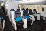 Business class seating on Boeing's 787 Dreamliner.