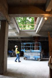 A series of cuts in the main floor of the Edith Green-Wendell Wyatt Federal Building will admit natural light to the basement.