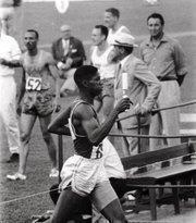 American Olympian and former University of Oregon runner Otis Davis.