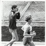 Olympian Jim Ryun (left) after winning the 1500 at the 1972 Olympic Trials held at Hayward Field.