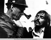 University of Oregon track coach Bill Bowerman and Duck distance runner Steve Prefontaine taken during the early 1970s.