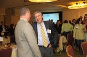 Jeff Brown with Employee Benefit Management Services networking before the luncheon.