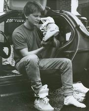"The Nike MAG is designed to be an exact replica of the shoe Michael J. Fox's character Marty McFly wore in the 1989 film ""Back to the Future II."""