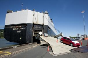 A ship carrying 2,000 Hondas bound for Portland has been rerouted to Richmond, Calif., as a result of a looming strike by terminal security workers, Port of Portland officials said Wednesday.