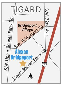 Bridgeport Alexan map