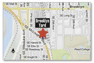 Brooklyn Yard locator map