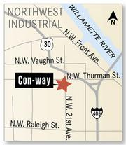 Con-way's master plan for developing its Northwest Portland property has been approved by the city.