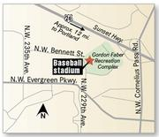 Hillsboro's new baseball stadium will sit immediately west of the city's current multi-purpose facility.