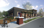 An architectural rendering of the new Thirsty Lion at the Streets of Tanasbourne in Hillsboro.