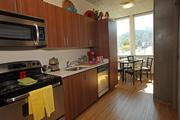 University Pointe offers small but functional kitchens for its student tenants.