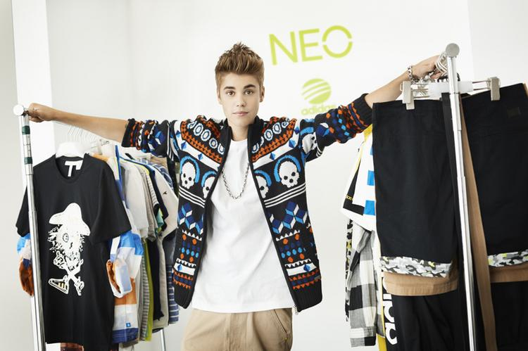 Justin Bieber is the new face of the Adidas Neo lifestyle brand, which targets consumers between the ages of 14 and 19.