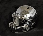 "Nike Inc. designed this HGI-painted ""liquid metal"" helmet for the University of Oregon last year. The Ducks wore it when defeating the University of Wisconsin in the Rose Bowl in January."