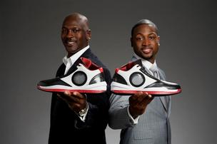 Miami Heat star Dwyane Wade has left Michael Jordan's namesake Jordan Brand after nine years within Nike Inc.'s portfolio of brands. Wade (right) is shown here with Jordan promoting the 2010 Air Jordan release.