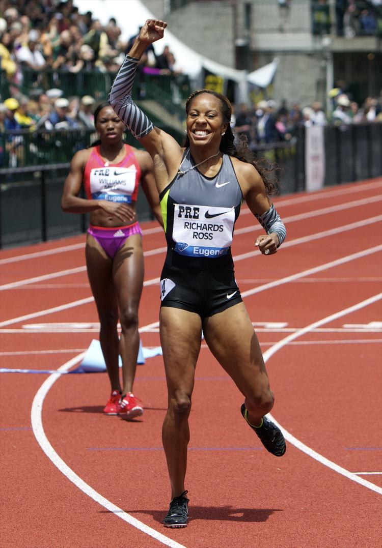 Nike-backed track athlete Sanya Richards-Ross is among several Olympians protesting an International Olympic Committee rule that prohibits them from prompting brands that aren't official sponsors during the Games.