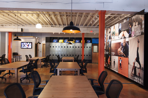 The Portland office of the Nike+ Accelerator, a program run by TechStars where 10 startups with products marrying athletics and digital technology will spend the next three months developing their products using the Nike+ digital platform.