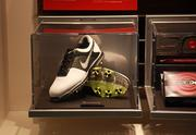 Though Nike Golf, as a business unit, was created in 1998, the brand has created footwear and apparel for the sport dating back to the mid 1980s. Artifacts from Nike's history in the sport are on display in the lobby, along with the brand's current featured products, like the Nike Lunar Control golf shoe.