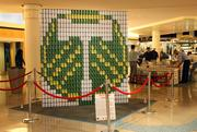 A Timbers-themed sculpture from the GBD Architects and Turner Construction team.