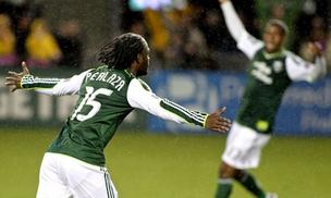 Portland Timbers forward Jorge Perlaza scored two goals during the team's opening day victory over the Chicago Fire.