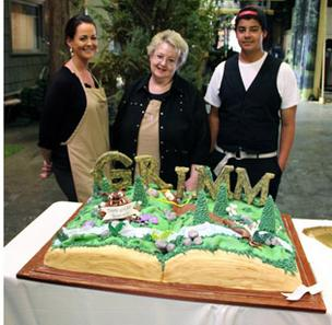 Christi Wright-Ross, Jan Wright and Shawn Ross of Wrightberry's Cakes & Cupcakes in Oregon City created a cake to commemorate the filming of the second season of