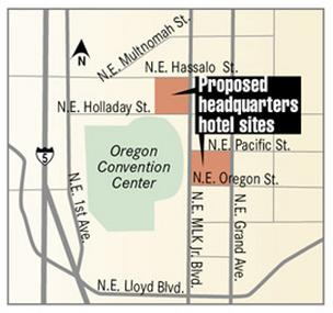 The Portland Development Commission has signed off on a Hyatt-flagged hotel at the Oregon Convention Center.
