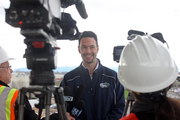 The Hillsboro Hops General Manager K.L. Wombacher was on hand for the stadium media tour.