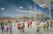 This family friendly concourse will offer views from down the left field line.