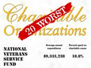 18.National Veterans Service Fund of Darien, Conn. informs and educates in conjunction with service-related illnesses and works to raise public awareness of the contributions of veterans to our society.