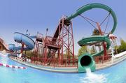 Swimming pool with water slides at Kah-Nee-Ta in Warm Springs, Ore.