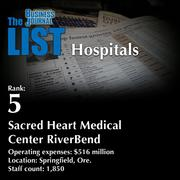 5: Sacred Heart Medical Center RiverBend