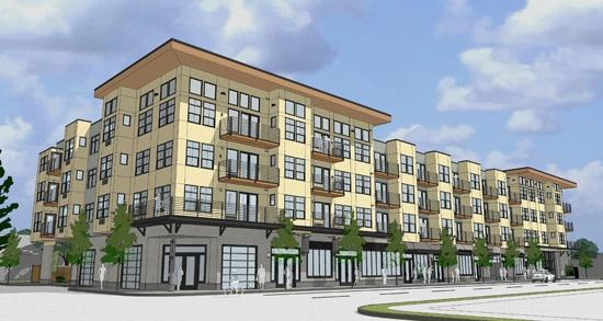 The Albert is one of the few market-rate apartment complexes to be built in Portland since the recession took hold.
