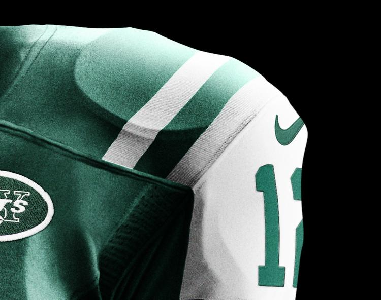 Nike Inc. released the uniforms it designed for the New York Jets and the other 31 NFL teams during a median event Tuesday. The company is embroiled in a lawsuit with rival Reebok over Jets jerseys made bearing the name of quarterback Tim Tebow.