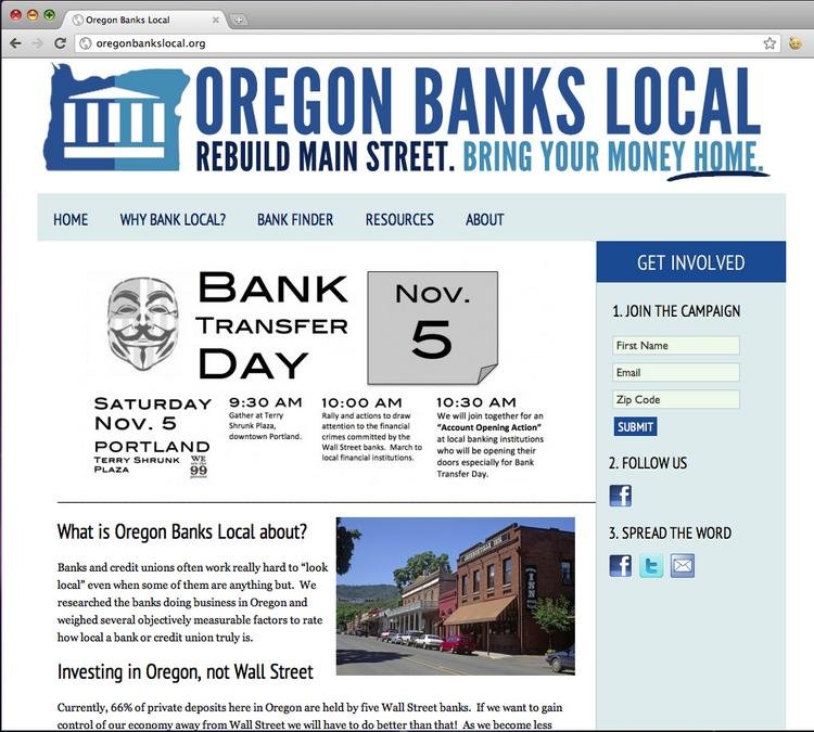 The new website OregonBanksLocal.org launches this week to help direct consumers to local banks.