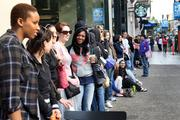 Eager Sephora shoppers await the opening of the beauty products retailer's new downtown Portland location Friday. More than 100 people lined the streets outside the store on the 400 block of Southwest Morrison in advance of the 10 a.m. opening.