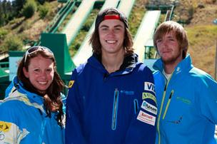 U.S. Freestyle Ski Team members Emily Cook, Dylan Ferguson, and Scotty Bahrke show their Columbia Sportswear Co. outerwear last year after the team signed on with the Washington County outfitter. Columbia on Monday said the Russian freestyle ski team will also wear its products at the 2014 Winter Olympics, joining the U.S. and Canada.