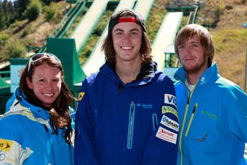 U.S. Freestyle Ski Team members Emily Cook, Dylan Ferguson, and Scotty Bahrke show their 2011/2012 Columbia outerwear. Columbia Sportswear Co. was named the official outfitter for the freestyle ski team Wednesday.