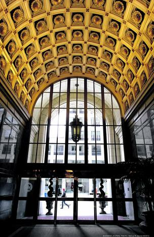 The lobby of the historic Dexter Horton building, which was just sold to Portland-based Gerding Edlen.