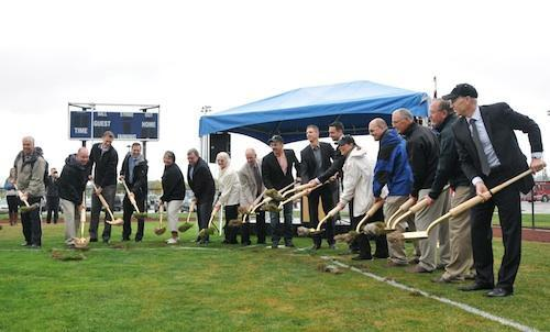 Elected officials and baseball boosters broke ground in September on the Hillsboro Hops new stadium.