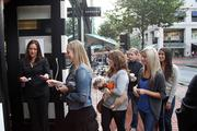 Sephora issued gift cards worth up to $100 to the first 100 shoppers at its new downtown Portland retail store Friday morning. The store is Sephora's third in the Portland metro area.