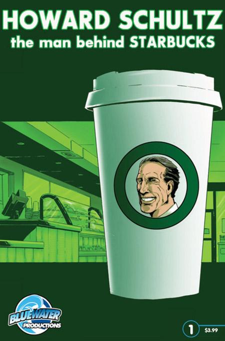 Starbucks CEO Howard Schultz is the hero of a new comic book from Bluewater Productions.