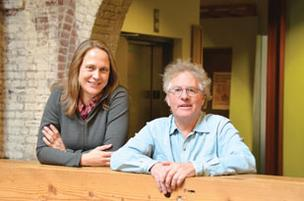 Astrid Scholz, left, will take over as president of Ecotrust from Spencer Beebe.