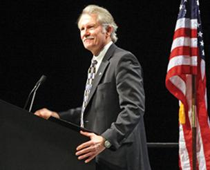 Oregon Gov. John Kitzhaber cheered many state business leaders by pledging his support for the Columbia River Crossing project and PERS reform.