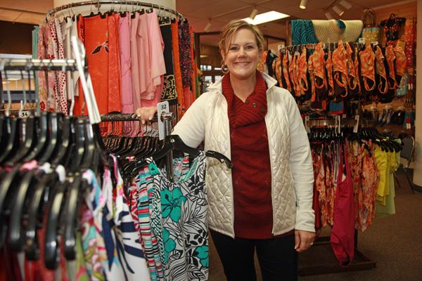 Portland Swimwear manager Kennen Kuffel is anticipating a boost in business when Target opens at the Galleria in July.