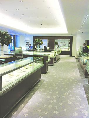 Tiffany & Co. made extensive renovations to the interior of its Pioneer Place store.